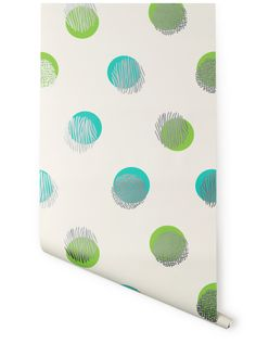 Hygge & West | Biscayne Dot (White/Green & Blue) by Karla Pruitt