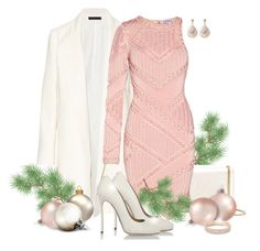 """""""I'm dreaming of a pink Christmas!"""" by carla-palmisano-50 ❤ liked on Polyvore featuring The Row, Yves Saint Laurent, Hervé Léger, Dsquared2, Latelita and Anne Klein"""