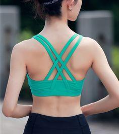 Professional Sports Bra Top Fitness Gym Women Strappy Vest Seamless Padded Yoga Bras Training Tank Top Push up Running Underwear