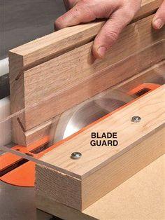 Seguridad en cortes de sierra de mesa.