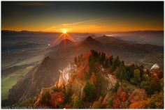 golden autumn, Pieniny mountains, Poland by Darek Podhajski