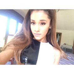 Follow Me On Twitter @Ariana Grande I Dare Everyone To Wear Black And White And Post It On Twitter And Pinterest!