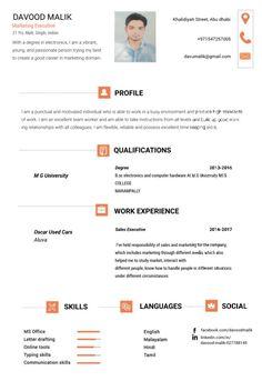 Resume design-Orange
