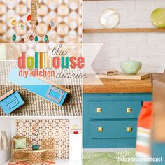 how to make a dollhouse kitchen | the handmade home