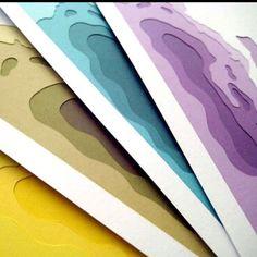 Typographic paper art.