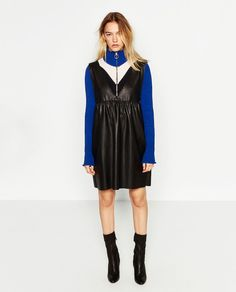 FAUX LEATHER PINAFORE DRESS-DRESSES-WOMAN | ZARA United States