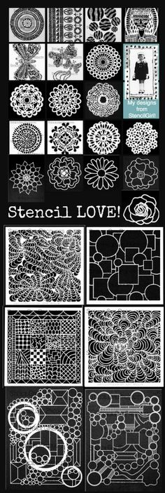 StencilGirl stencils designed by Maria McGuire for StencilGirl. See them here: http://www.stencilgirlproducts.com/category-s/1854.htm