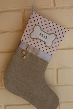 Personalized pet stocking by Littlewhiteboutique on Etsy, $35.00