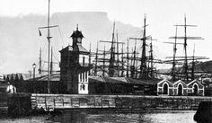 A Portion of Cape Town's Docks in 1900 Old Pictures, Old Photos, Vintage Photos, Most Beautiful Cities, My Land, African History, Cape Town, Old Houses, South Africa