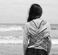 DIY: camiseta trenzada | Aprender manualidades es facilisimo.com
