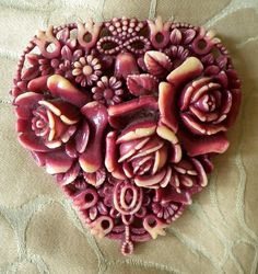 Lovely Floral Celluloid Pin by etherealtreasures on Etsy, $30.00
