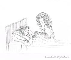 Rosalind telling Batty a story, from The Penderwicks