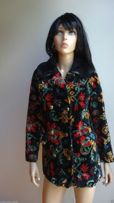 UNIQUE and BEAUTIFUL multi-color vintage coat XS-S in Clothing, Shoes & Accessories, Women's Clothing, Coats & Jackets | eBay