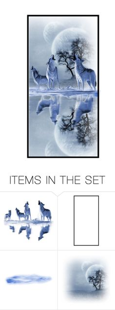 """""""Bark at the moon"""" by sue-wilson1967 ❤ liked on Polyvore featuring art"""