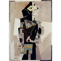Some character inspiration for Alcandre: Picasso's Harlequin with Violin. Picasso, Violin, Character Inspiration, Illusions, Design, Stone, Design Comics