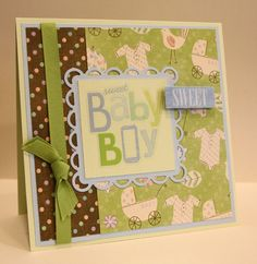 Handmade New Baby Boy Card baby boy shower card by CardsbyGayelynn, $4.50