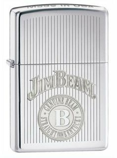 Jim Beam HP Chrome Zippo Lighter Z28190 by Trevco. $47.91. This zippo lighter features a Jim Beam design. This lighter is made to order by the manufacturer. Ships within 5-10 business days from when ordered.. Save 20% Off!