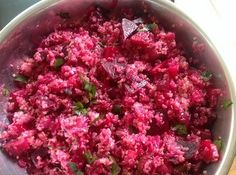 My creative outlet is my cooking, and my cooking is my expression of love. I came up with this recipe to marry the beautiful color of red, along with the sweetness of orange and beets. This dish was