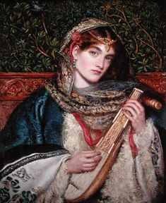 Marie Spartali Stillman, Girl Playing Music, (not dated, 19th cent.)