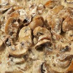 Lithuanian creamed mushrooms (grybai) recipe shared by a member of the Lithuanian Music Hall Association in Philadelphia