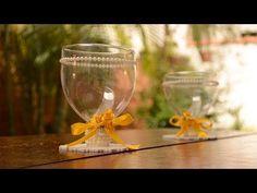 Reciclagem: Enfeite de Mesa com GARRAFA PET - YouTube
