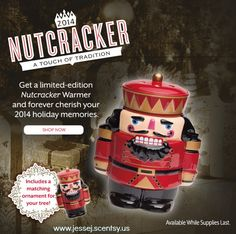 Nutcracker | Scentsy Warmer plus free tree ornament LIMITED EDITION, numbered 2014 Nutcracker.