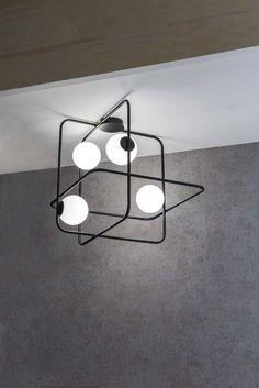 Intrigo By marchetti, steel ceiling lamp design Roberto Giacomucci