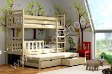 Petra 5 poschodová posteľ s prístelkou Bunk Bed Crib, 3 Bunk Beds, Bunk Bed With Trundle, Jelsa, Funky Design, Solid Pine, Bed Frame, Storage Solutions, Kids Bedroom