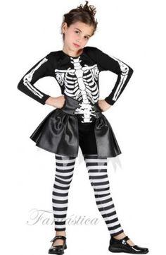 disfraz de esqueleto para niña, disfraz de zombie, disfraces de Halloween para niñas, Halloween - Tienda Esfantastica