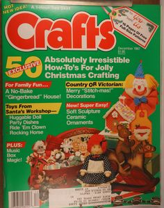 https://flic.kr/p/v4S6Pt | Crafts Dec 1987 | $6.00 each plus Shipping.