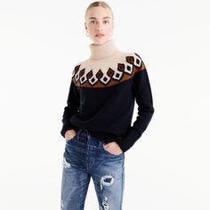 Fair isle turtleneck sweater
