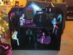 DIY Monster High House used KRYLON FUSION for plastic