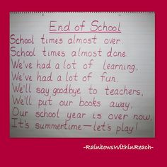 RainbowsWithinReach: Fine Motor Sign in Systems and end of the year rhymes (continuing series: Fine Motor Friday)