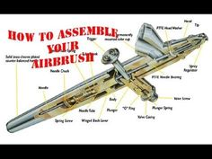 How to Assemble your Airbrush 101 - YouTube Air Brush Painting, Matte Painting, Painting Tips, Body Painting, Garage Art, Garage Tools, New Hobbies, Hobbies And Crafts, Weekend Projects