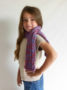 Custom Made to Order Chunky Knit Scarf in Toddler/Child Size by HeavenBoundHCA, $20.00 USD
