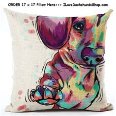 Dachshund Paw Pillow