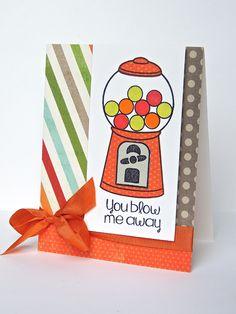 CAS The Stamps of Life bubblegum4me card - bubblegum machine - bjl