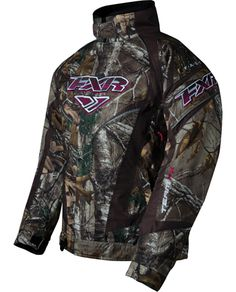 FXR Women's TEAM Jacket - CAMO - Realtree Xtra so badly want this for winter next year!!