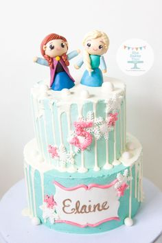 Frozen Drip Cake  on Cake Central