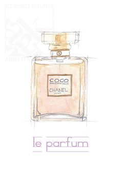 "Chanel Perfume Bottle, 5""x7"" Giclee Print. $20,00, via Etsy."
