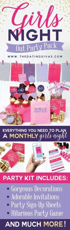This would be such a cute girls night out party! And I love the easy ideas they give about organizing a GNO monthly... awesome! www.TheDatingDivas.com