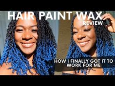 I FINALLY GOT HAIR PAINT WAX TO WORK! | DOS + DONTS FOR HAIR PAINT WAX APPLICATION + REVIEW - YouTube