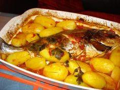 recette dorade à la tomate avec pommes de terre au four