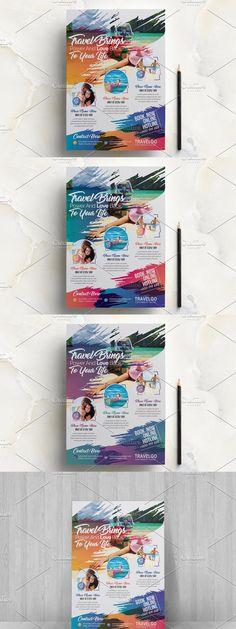 Find Fonts, Construction Design, A4 Paper, Travel Agency, Flyer Template, Templates, Color, Stencils, Colour