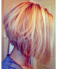 Texturized A-line Bob. Would be cute worn wavy, too!