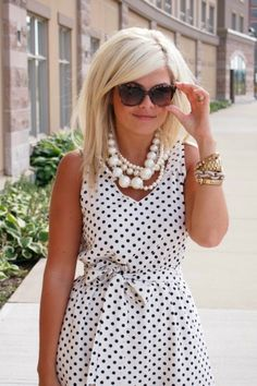 Polka Dotted Dress With Shades