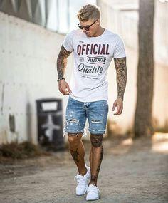 963d3a6de 119 melhores imagens de Looks Masculinos de Verão - Summer Men s Style em  2019