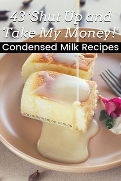 Obviously, I am a huge fan of condensed milk. It's so delicious and easily turns a blah dish into something special! Plus, it's hard to f*ck it up, and even if you manage to mess up your recipe, you'll still end up with something yummy. Recipes Using Condensed Milk, Evaporated Milk Recipes, Condensed Milk Desserts, Condensed Coconut Milk, Condensed Milk Cookies, Cake With Condensed Milk, Condensed Milk Cheesecake Recipes, Milk Tart, Catering