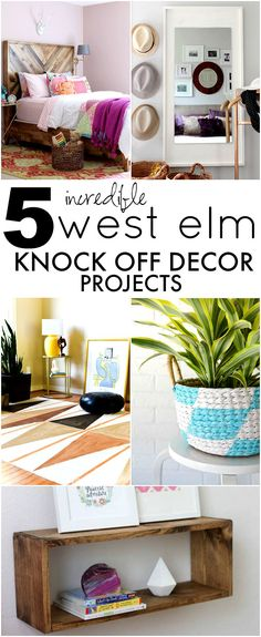 WEST ELM INSPIRED DIY PAINTED RUG. Love this home decor idea!
