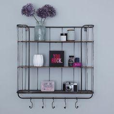Three Shelf Metal Wall Rack